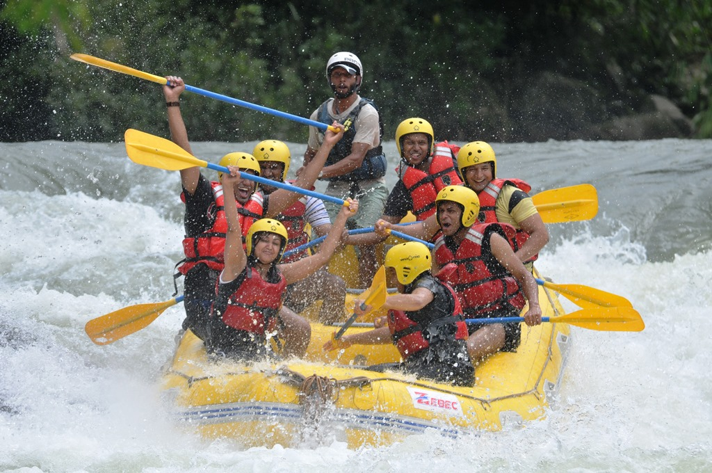 White-water rafting at dubare